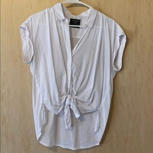 Abercrombie and Fitch white blouse